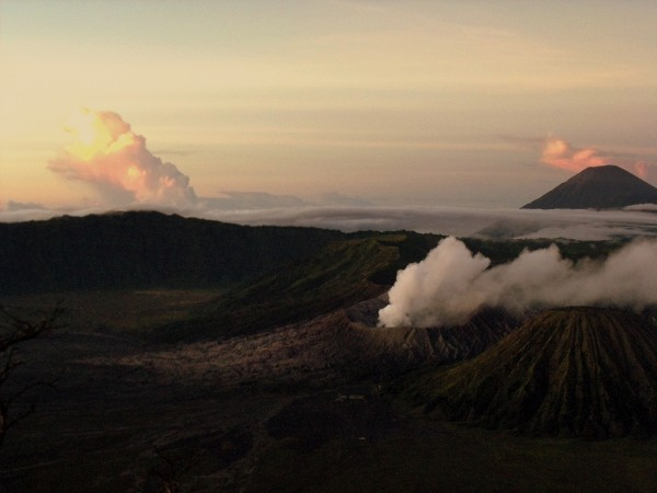 Volcanoes on the Island of Java, Indonesia