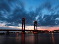 Ampera bridge in Palembang, South Sumatra