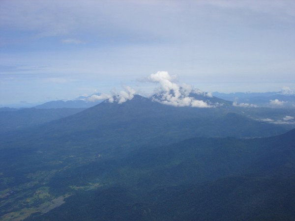 Mount Talang in West Sumatra