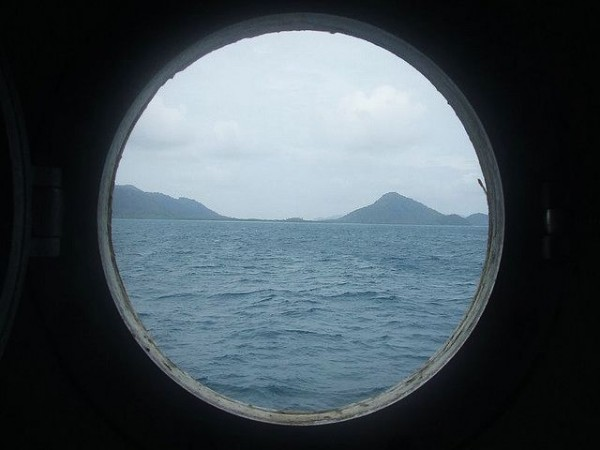 Tambelan from the ship window