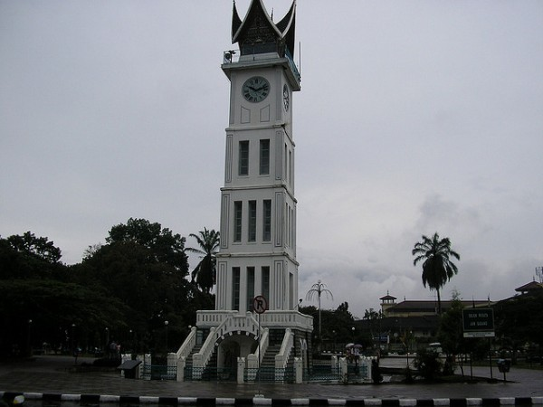 The clock tower in Bukittinggi
