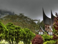 Traditional house in the surroundig of Padang