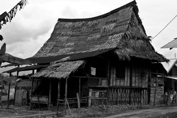 Village house in West Sumatra