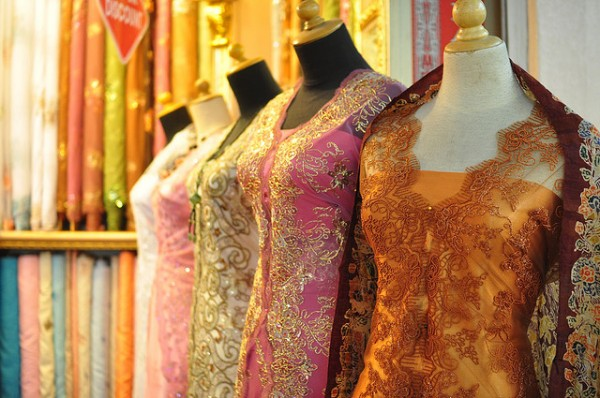 Beautiful dresses and textiles in Bandung