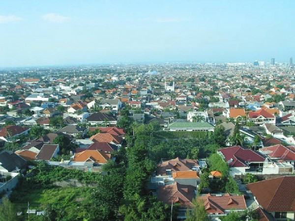 The city of Surabaya in East Java