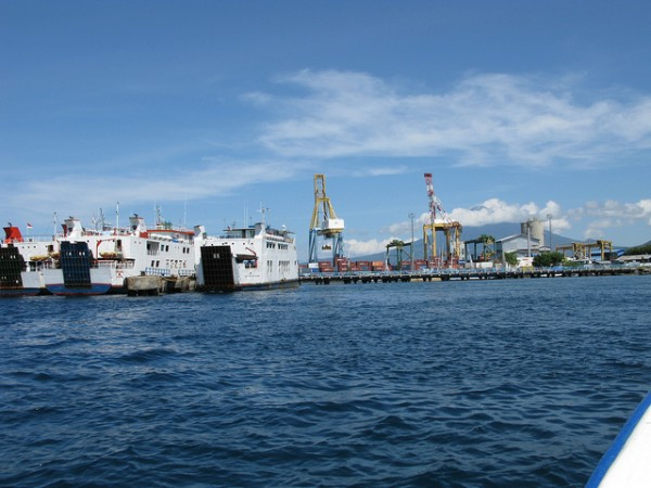 Bitung harbor in North Sulawesi