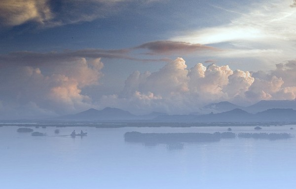 The Tondano Lake in North Sulawesi