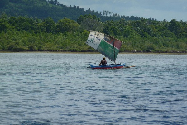 Sail boat in West Sulawesi