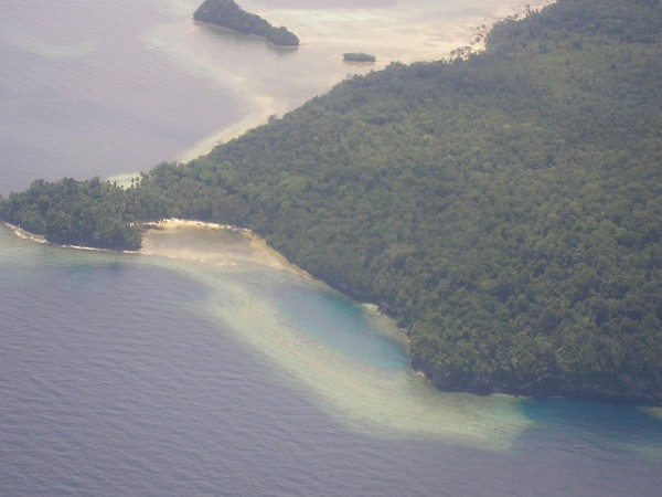 Aerial view of the Biak area