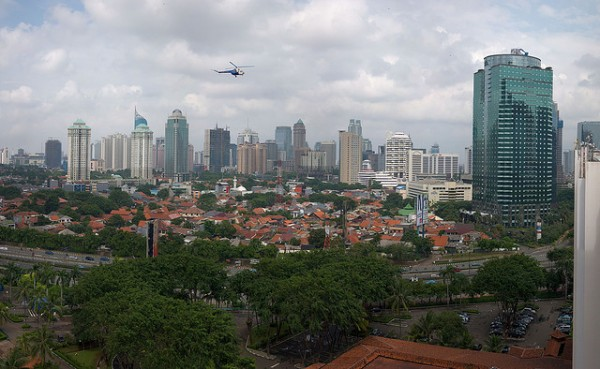 The city of Jakarta in Indonesia