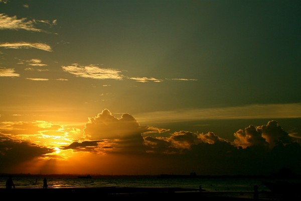 Sunset at the Melawai Beach in Balikpapan