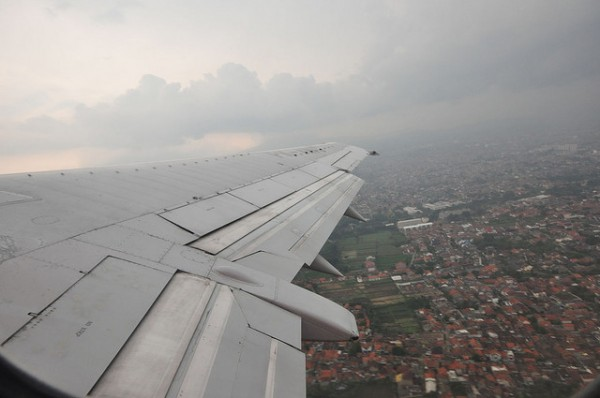 View of Bandung from plane