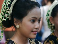 Traditional dancer in Cirebon