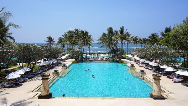 Conrad Bali's Swim pool in Kuta
